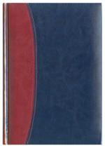 Notes Bolonia bordowy/granatowy
