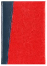 Notes Milano granatowy/czerwony