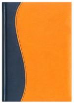 Notes Vincenza granatowy/pomarańczowy