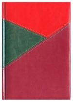 Notes York zielony/czerwony/bordowy